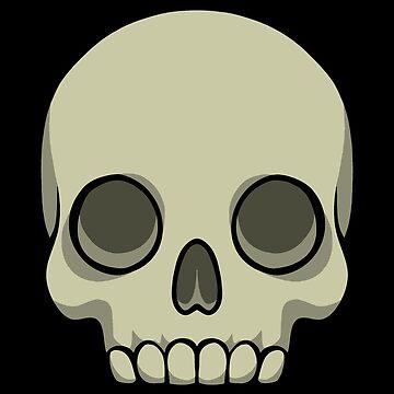 Human skull by WildSally