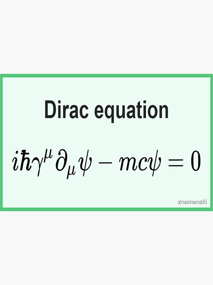 Dirac equation #Dirac #equation #DiracEquation #Physics by znamenski