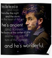 Doctor Who- Tenth Doctor Devid Tennant  Poster