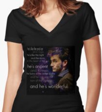 Doctor Who- Tenth Doctor Devid Tennant  Women's Fitted V-Neck T-Shirt