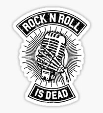 Rock and Roll is Dead Sticker