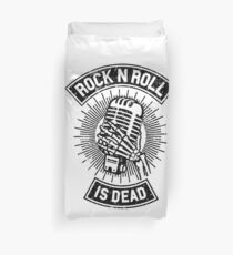 Rock and Roll is Dead Duvet Cover