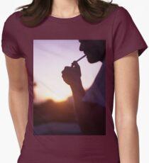 Young man smoking cigarette medium format Hasselblad film photo  T-Shirt