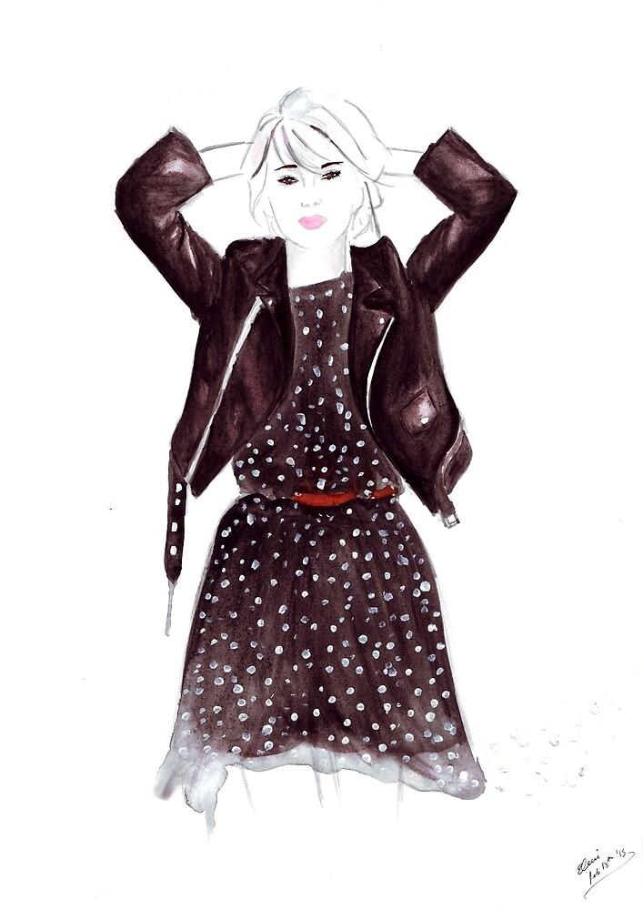 Polka Dot Dress by Eleni Fall into London