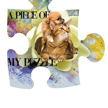 Cat and Dog Puzzle Piece by gemzysworld