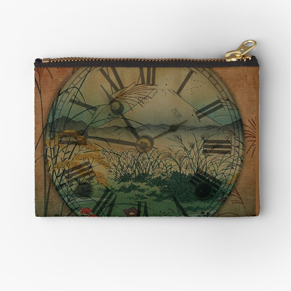 Behind Time Zipper Pouch