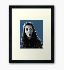 Annie Edison - Dark Blue Framed Print