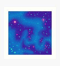 Indigo Nebula (8bit) Art Print