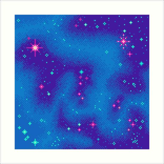 Indigo Nebula (8bit) by sp8cebit