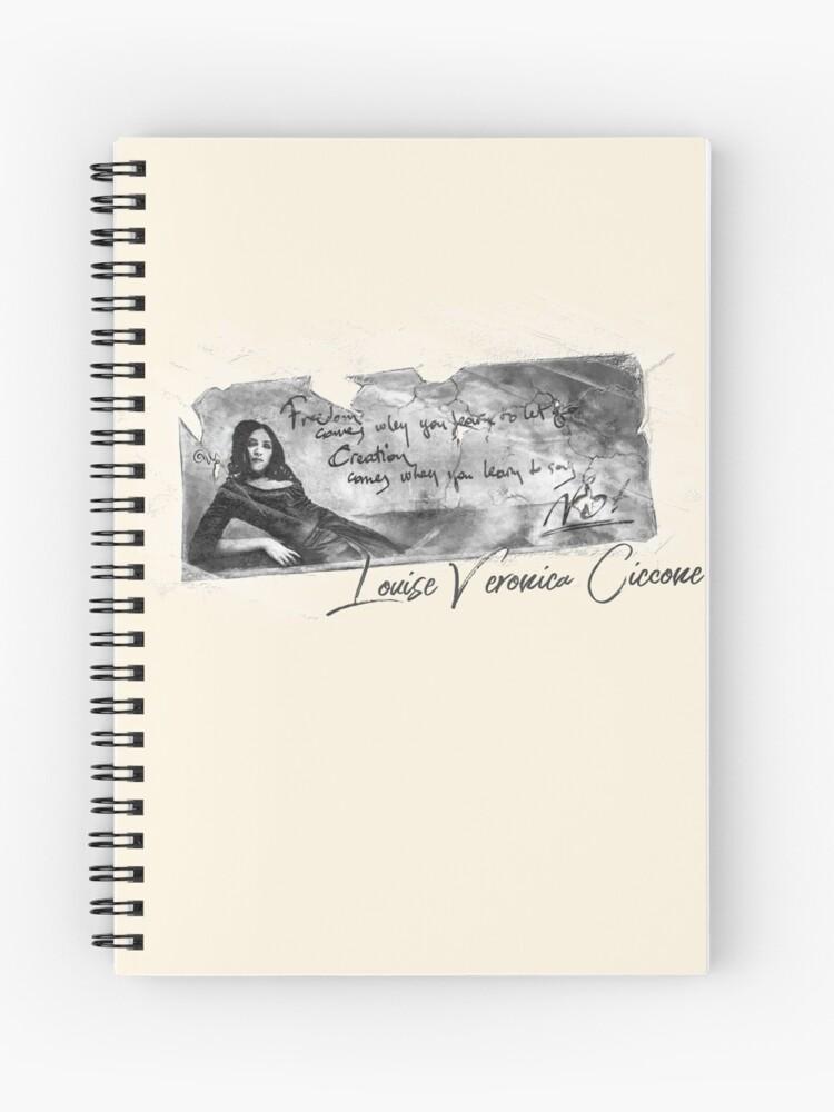 Las despedidas de Madonna Louise Veronica Ciccone (Gambogeish White BG) |  Cuaderno de espiral