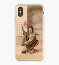 Two geisha girls dancing iPhone Case