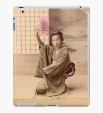 Two geisha girls dancing iPad Case/Skin