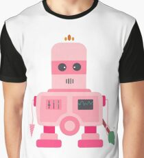 Giant pink robot with a tree club Graphic T-Shirt
