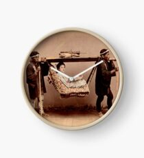 Japanese Kago, travelling chair Clock