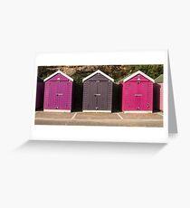 Bournemouth Magenta Beach Huts  Greeting Card