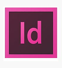 Indesign logo Photographic Print