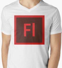 Flash Logo Men's V-Neck T-Shirt