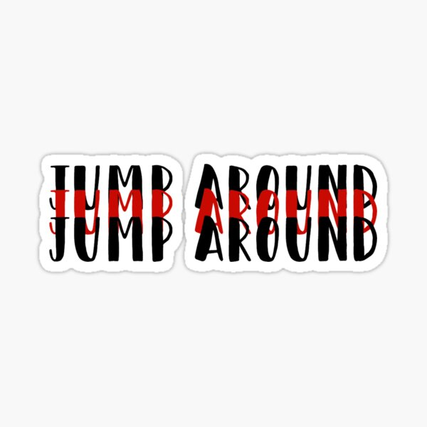 University of Wisconsin- Jump Around Sticker
