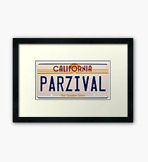 Parzival Custom Plate Framed Print