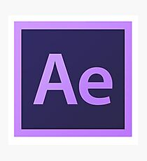 After Effects logo Photographic Print