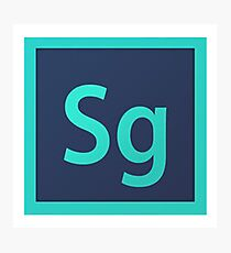 SpeedGrade logo Photographic Print