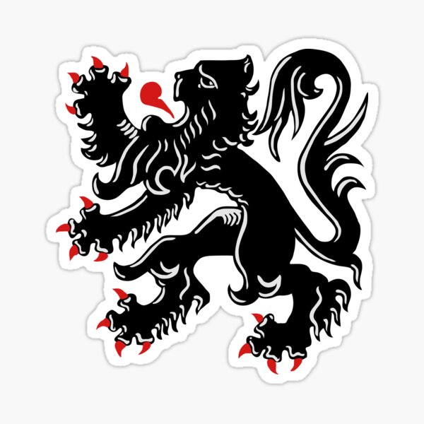 The Flemish Lion - De Vlaamse Leeuw - Flanders  Sticker