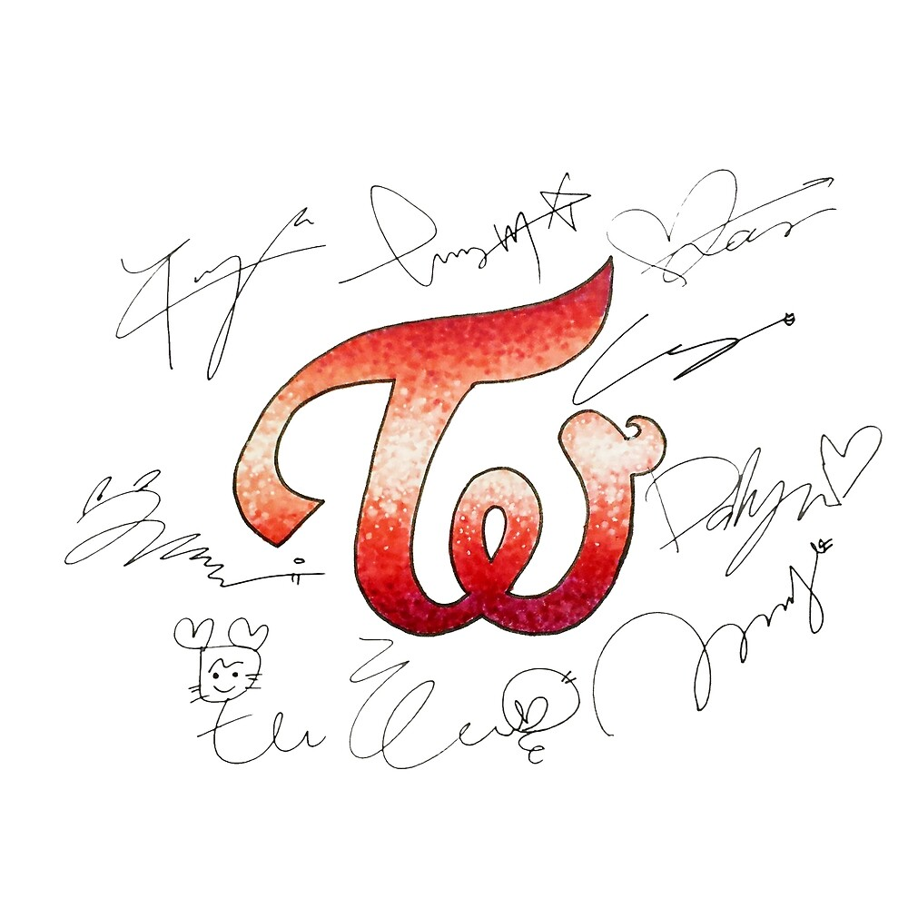 TWICE Logo and Signatures by AdelineFaerie