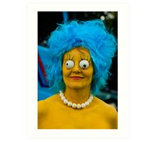 Will the real Marge stand up! Art Print