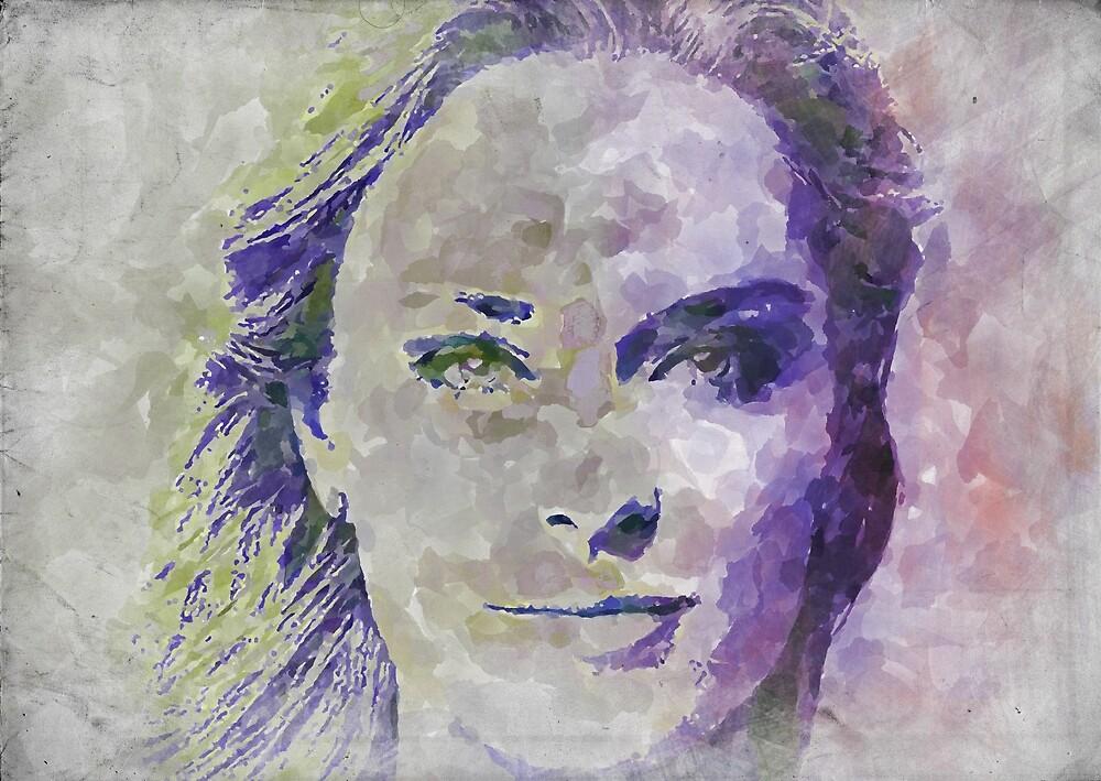 Lindsey Vonn Watercolor by RickyBarnard