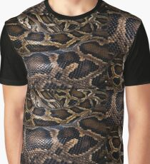 Python - leather - background Graphic T-Shirt