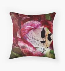 Requiem for a Tulip - Collaboration with Johanne Brunet Throw Pillow