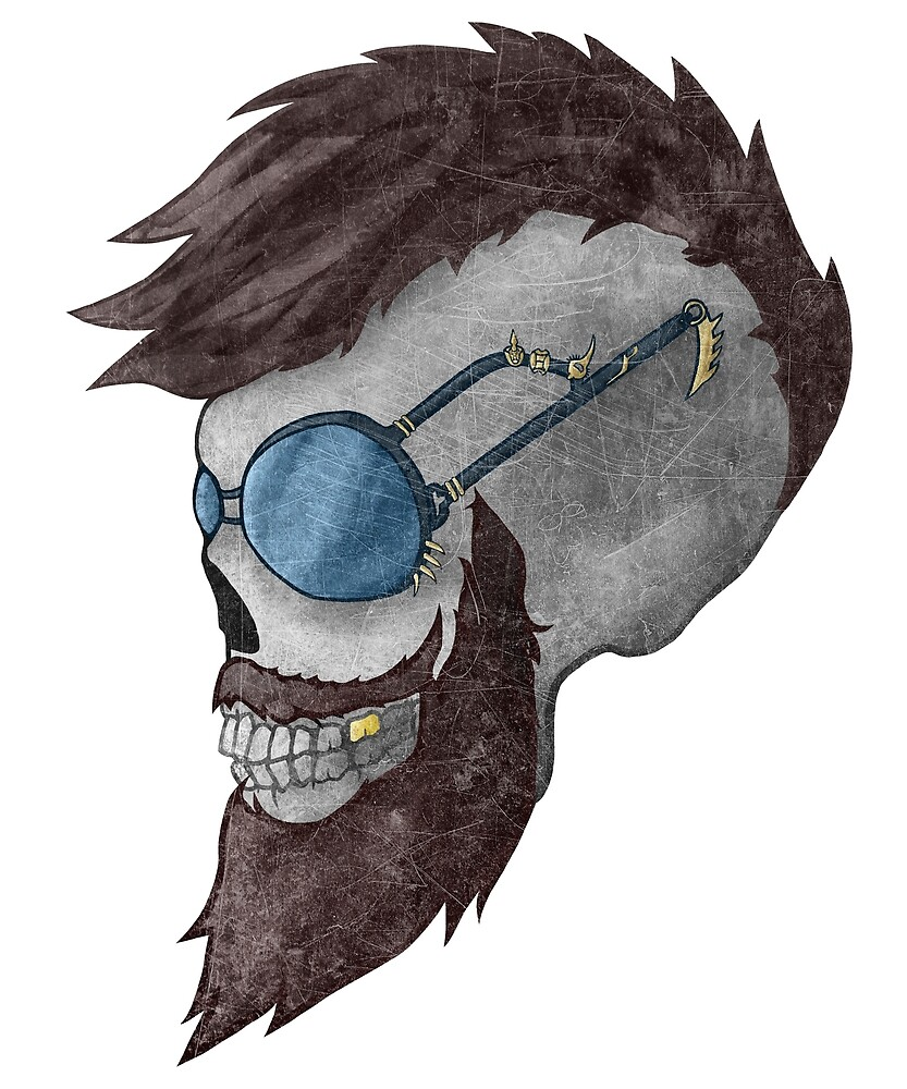 Dying For! | Grinning Skull Artwork by Level101