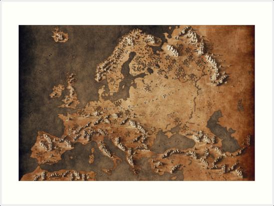 Karte von Europa - Fantasy-Thema von Callum Ogden