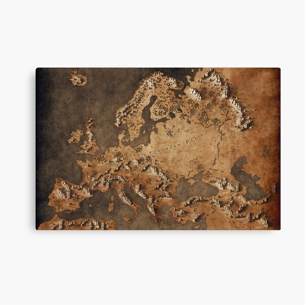 Map of Europe - Fantasy Theme Canvas Print