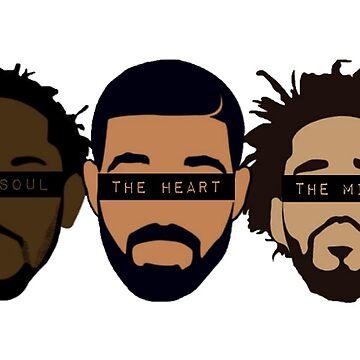 Drake, Kendrick, J Cole - Heart, Mind, Soul by samgendelman