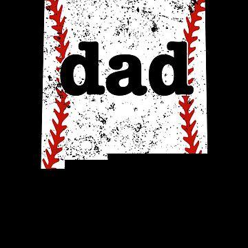 Softball Dad T Shirt New Mexico Baseball Dad Shirt by shoppzee