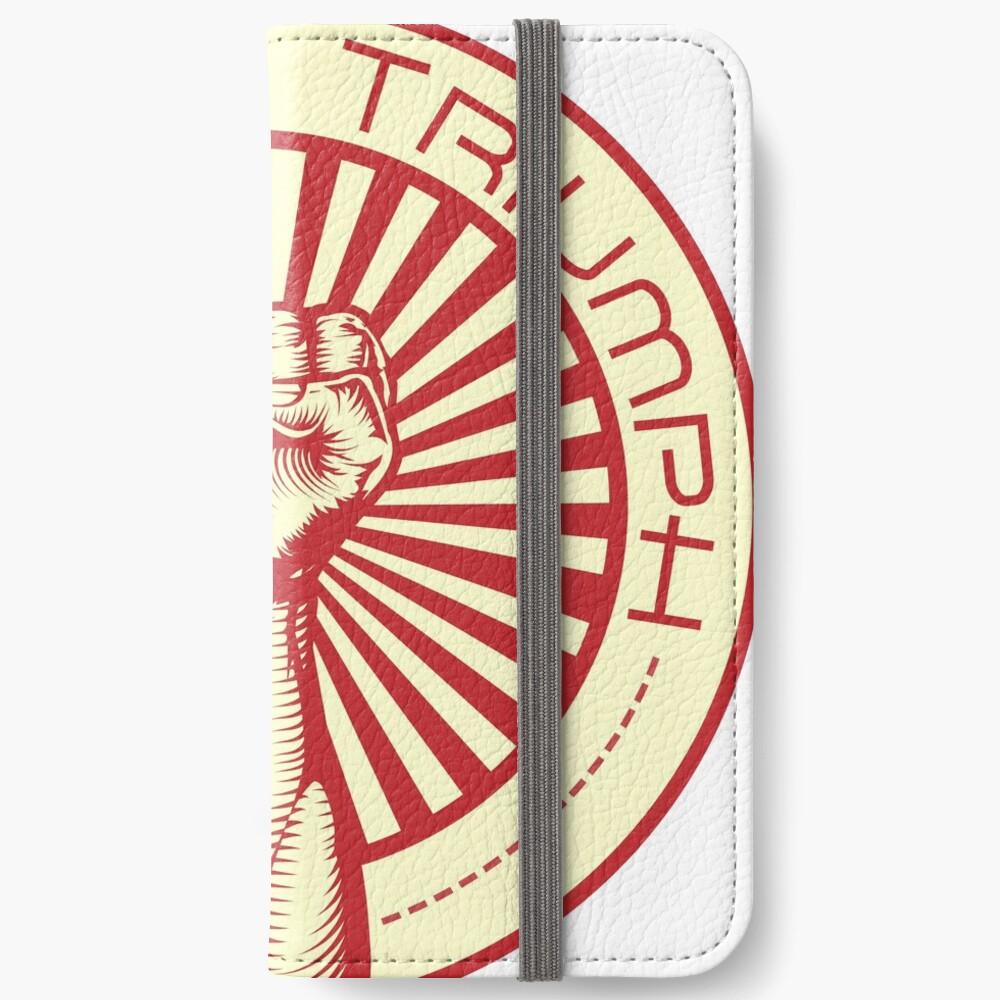 Grasping Triumph Russian Propaganda Raised Fist Art  iPhone Wallet