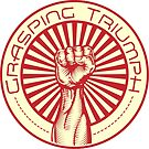 Grasping Triumph Russian Propaganda Raised Fist Art  by Andrew Walls