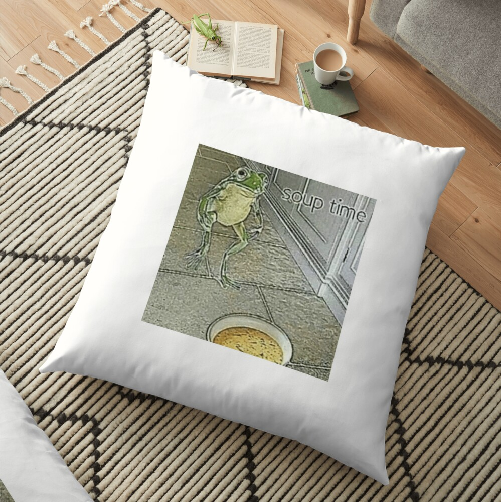 """Soup Time Frog Meme"" Floor Pillow by sp00kem   Redbubble"