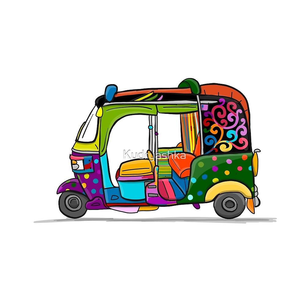 Tuktuk, motorbike asian taxi by Kudryashka