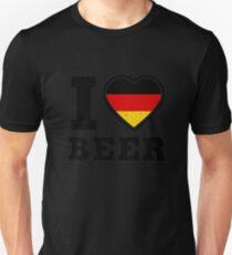 I Love Beer Shirt Cool German Beer Lover Shirt Beer Shirt Unisex T-Shirt