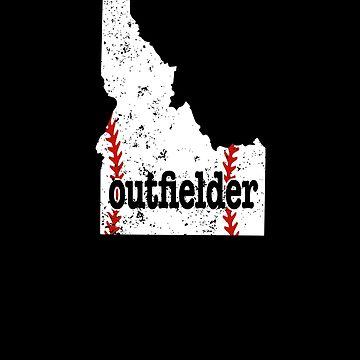 Idaho Baseball Outfield Softball Outfield by shoppzee