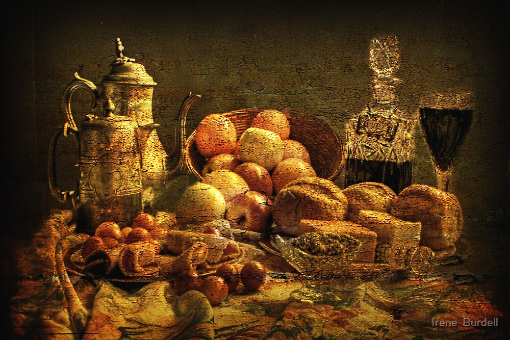 Still  Life Luncheon .    by Irene  Burdell