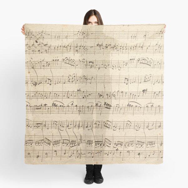 Wolfgang Amadeus Mozart Sheet Music Scarf