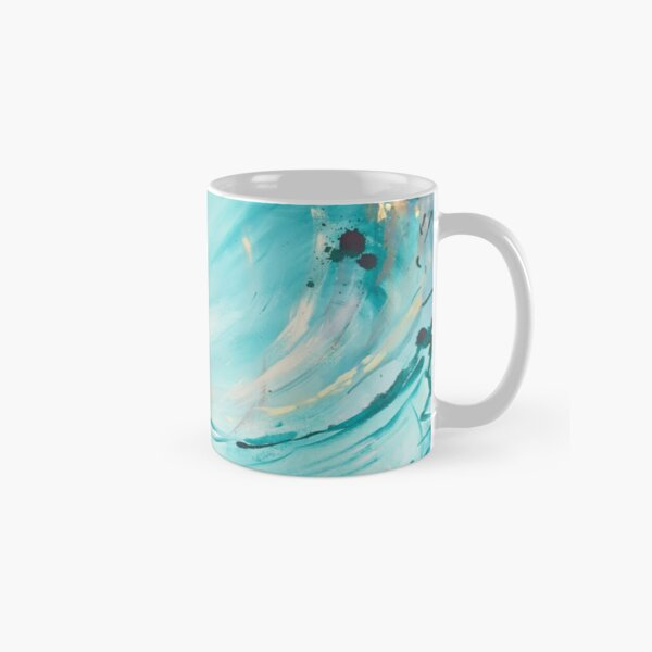 Abstract blue and gold design  Classic Mug
