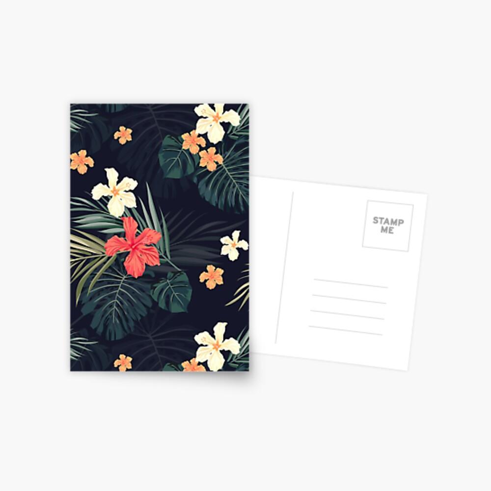Dark tropical flowers Postcard