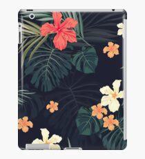 Vinilo o funda para iPad Flores tropicales oscuras