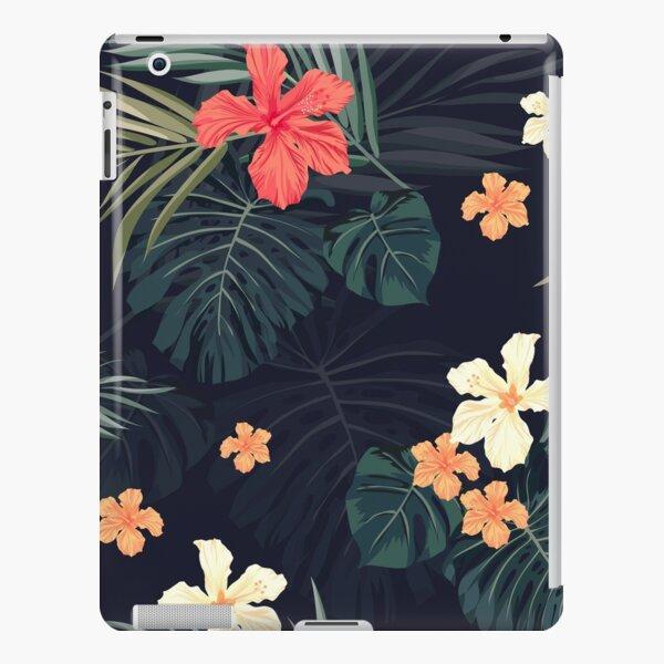 Dark tropical flowers iPad Snap Case