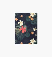 Dark tropical flowers Art Board