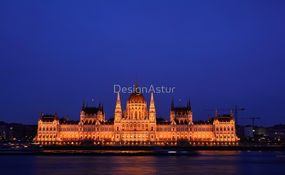 Parliament building in Budapest, capital of Hungary. by DesignAstur